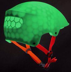 Sebastian Conran Associates 3D Printed Cycling Helmet Smart Textiles, 3d Printing Materials, Ski Helmets, Industrial Design Furniture, Cycling Helmet, Helmet Design, Bike Life, Textures Patterns, Surface Design