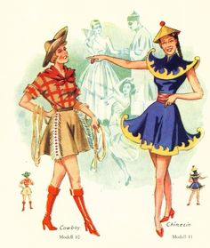 1950's Vintage Costumes 50 Patterns