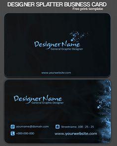 Stylish black business card by alex merbak free premium business stylish black business card by alex merbak free premium business card templates pinterest reheart Gallery