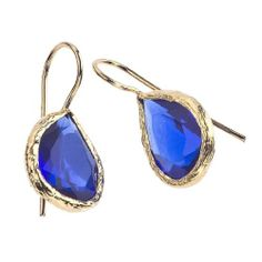 Amazon.com: 18K Gold Plate & Quartz Earrings: Jewelry