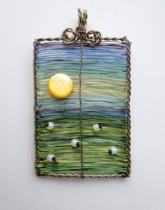 Room With a View wire wrapped and beaded woven by LouiseGoodchild, £34.00