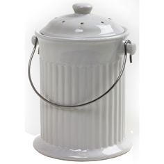 Norpro 93 1 Gallon White Compost Keeper Crock (Compost Keeper White), Multi (Plastic) #3091-8221