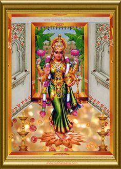 Gruhalakshmi MahaLakshmi Dhanalaxmi Entering Into House Durga Images, Lakshmi Images, Ganesh Images, Lord Ganesha Paintings, Lord Shiva Painting, Durga Goddess, Durga Maa, Divine Goddess, Shiva Shakti