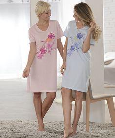 Lot de 2 chemises de nuit à motif L97cm