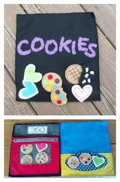 Bake a Cookie Felt Book $15.00 #FeltFun