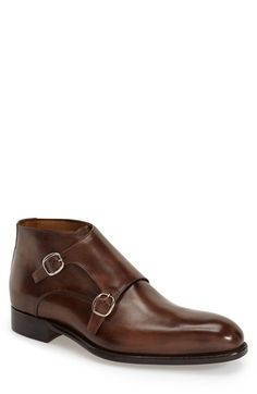Carlos Santos 'Amodio' Double Monk Strap Chukka Boot (Men) available at #Nordstrom
