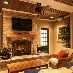 Brick Fireplaces Design Ideas, Pictures, Remodel, and Decor