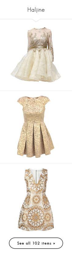"""Haljine"" by milenam204 on Polyvore featuring dresses, vestidos, short dresses, gowns, short brown dress, brown dress, mini dress, flare dresses, french connection dresses and short flared dresses"