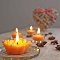 Valentine's Day is sneaking up. from now until February save on all flower candles on our website! Hanukkah Candles, Paraffin Candles, Buy Candles, Candle Maker, Candlemaking, Burning Candle, Valentine Day Gifts, Birthday Candles, Homemade