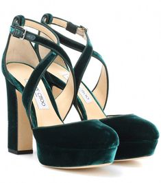 249565057c2e JIMMY CHOO Joyce 120 Velvet Pumps.  jimmychoo  shoes  pumps Green Velvet  Shoes