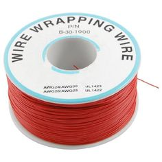Amico PCB Solder 0.25mm Tin Plated Copper Cord Dia Wire-wrapping Wire 305M 30AWG Red by Amico. $13.07. Features flexible and insulation wrap wire, tin-plated breadboard jumper cable for test jig, jtag or any electronic test uses. Plastic Spool will be provided together for better organizing. Widely use for laptop, motherboard, LCD display, breadboard, electronic test and other PCB soldering fly line.