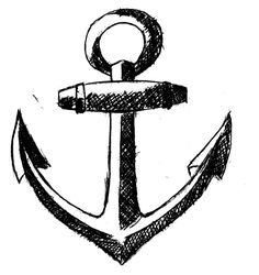 25 Best Black Anchor Tattoo Drawings Images Anchor Tattoos