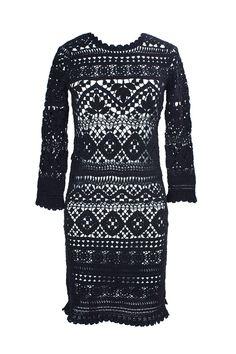 Fabulous Crochet a Little Black Crochet Dress Ideas. Georgeous Crochet a Little Black Crochet Dress Ideas. Mode Crochet, Crochet Lace, Blouse Dress, Knit Dress, Vestidos Fashion, Knitwear Fashion, Dress Tutorials, Crochet Woman, Crochet Clothes