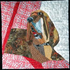 "Winston Buford, 12 x 12"", by JEANNIE PALMER MOORE: 2014 SAQA auction quilt"