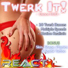 Second Life Marketplace - Twerk It! Dance Pack & HUD (Shake Your Booty)