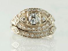$899.99 14K White Gold 0.75 CTW Diamond I-6120 #14 karat white gold diamond ring #estate #fashion rings #designer rings #westchestergold
