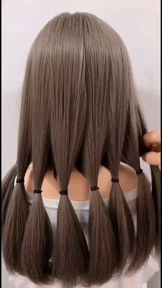 Hairdo For Long Hair, Bun Hairstyles For Long Hair, Braided Hairstyles, Ponytail Hairstyles Tutorial, Kawaii Hairstyles, Girl Hairstyles, Hair Style Vedio, Hair Tutorials For Medium Hair, Front Hair Styles