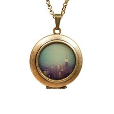 New York Nights Locket Necklace by Lori Patton