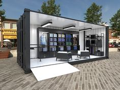 Ben Sherman Container Store by Jair Barrón, via Behance