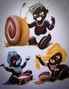 Baba Obatala, Yeye Yemoja, and Yeye Oshun Ifa Religion, Religion In Africa, Orishas Yoruba, Plus Size Art, Black Love Art, Holy Mary, African American Art, Character Portraits, Sacred Art
