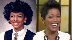 Fabulous Natural Hair Fashionista - Tamron Hall Love Her!!!!!! Tamron Hall gasps at the sight of an old school photo – but we love it - TODAY.com