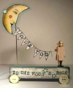 try this in the shadow box i have. nbl Fairy & Moon Altered Folk aRt Collage Hand Made Mixed Media Vintage ooak 3d Paper Art, Paper Crafts, Paper Dolls, Art Dolls, Collage Art Mixed Media, 3d Collage, Art Collages, Deco Originale, Junk Art