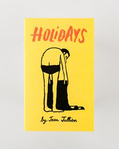Holidays Book of Illustrations: Holidays by French artist Jean Jullien is a humorous send up of our holiday habits.Crispy sunburnedskin, overcrowded beaches,the perils of seagulls overhead, ubiquitous stripey tops and multitudes of holiday selfies. All captured in Jullien's unmistakable graphic style.The first collection ofwatercolours from the world-renowned illustratorperfectly encapsulate theholiday experience as we (truly) know it.