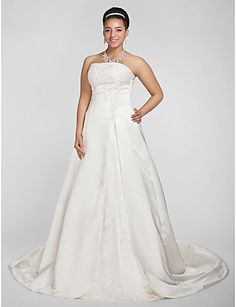 A Line Plus Size Wedding Dress With Cap Sleeves The Most Amazing