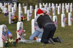 A very sad day....the women's sons, both Marines, served together in Afghanistan; both died in combat there. Bless her soul!