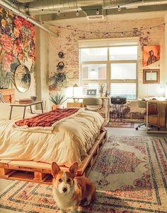 56 Ravishing Bohemian Bedroom Inspirations – The Mood Palette – Bohemian Bedrooms Bohemian Bedrooms, Bohemian Bedroom Design, Trendy Bedroom, Cozy Bedroom, Home Decor Bedroom, Modern Bedroom, Bedroom Ideas, Bedroom Designs, Contemporary Bedroom