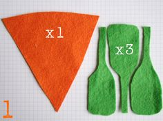 Felt carrot - Instructions are in french, but it looks pretty straightforward Felt Food Patterns, Sewing Patterns, Toddler Gifts, Gifts For Kids, Felt Crafts, Easter Crafts, Felt Fruit, Felt Kids, Kids Play Kitchen