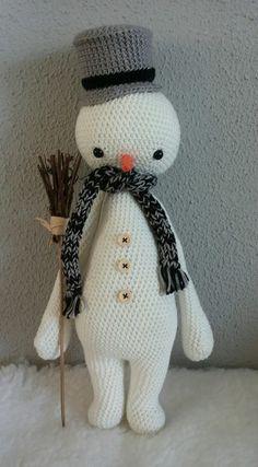 Lalylala inspired, winter, snowman