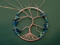 How to make a wire wrapped tree of life ornament