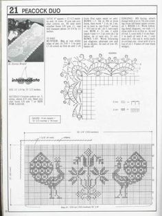 Decorative Crochet JULY 1991 - Number 22 - DEHolford - Álbuns da web do Picasa Crochet Borders, Filet Crochet, Crochet Patterns, Crochet Hook Sizes, Crochet Hooks, Crochet Tablecloth, Crochet Doilies, Vintage Birds, Table Covers