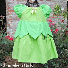 Tinker Bell Disney Princess Peasant Dress. $42.00, via Etsy.