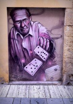 There is very famous street art and graffiti in Spain that I would like to see like this!
