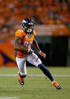 Wide receiver Demaryius Thomas #88 of the Denver Broncos carries the ball against the Indianapolis Colts at Sports Authority Field at Mile High on September 7, 2014 in Denver, Colorado.