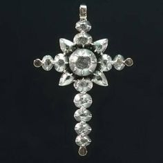 Rare Victorian Diamonds Cross Pendant by adinantiquejewellery, €1950.00