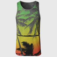 Hawaii Palm Print Tank Tops Tropical Summer Vests //Price: $17.99 & FREE Shipping //     #deal