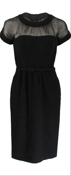 Oscar de la Renta ● Black belted dress