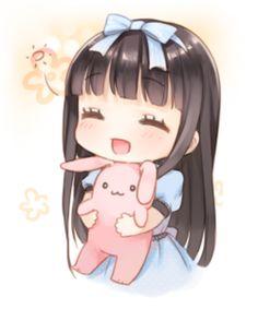 """二次元 少女 Q版 萌系 动漫 插画 头像 """"Qianxi丶"""