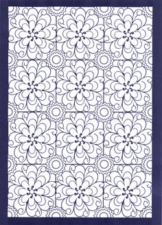 Allover Patterns Stained Glass Coloring Book, Dover Publications.