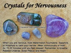 Sapphire Gemstones Crystals for Nervousness — When you are nervous, hold Watermelon Tourmaline, Sapphire, or Amethyst to calm your Crystal Uses, Crystal Magic, Crystal Healing Stones, Crystal Grid, Crystals Minerals, Rocks And Minerals, Crystals And Gemstones, Stones And Crystals, Gem Stones