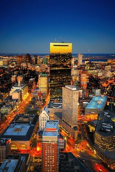 A view from the Pru! Prudential building observatory 360 degrees around. BREATHTAKINGLY STUNNING !