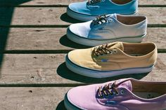 Vans California Spring 2012 Authentic CA 'Brushed Twill' Pack