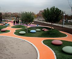 Public Spaces: Mago Confeti contemporary concrete seating 1 of 3 Playground Design, Outdoor Playground, Playground Games, Landscape Architecture Magazine, Architecture Plan, Urban Landscape, Landscape Design, Backyard Water Parks, Linear Park