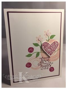 """Faithful INKspirations: Creation Station: Something Old, Something New--this card is made with Stampin' Up's """"Swirly Bird"""" and """"Ribbon of Courage"""" stamp sets."""