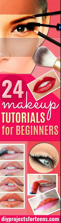 Best Makeup Tutorials for Teens - Easy Makeup Ideas for Beginners - Step by Step Tutorials for Foundation, Eye Shadow, Lipstick, Cheeks, Contour, Eyebrows and Eyes - Awesome Makeup Hacks and Tips for Simple DIY Beauty - Day and Evening Looks #makeup #teenmakeup #makeuptutorial #stepbystepmakeup #makeupideas via @diyprojectteens Make Up Tutorials, Best Makeup Tutorials, Best Makeup Products, Beauty Products, Contour Makeup, Eyebrow Makeup, Diy Makeup, Face Makeup, Makeup Hacks