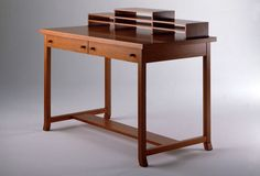 Design writing desk by Frank Lloyd Wright (art deco) - 619 MEYER MAY DESK - ArchiExpo