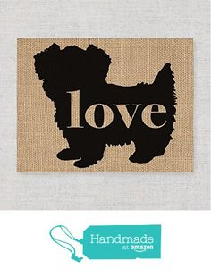 Morkie (Maltese / Yorkie) Love: An Unframed Burlap or Canvas Paper Wall Art Print for Dog Lovers - Can be Personalized & Ships Free from traciwithani